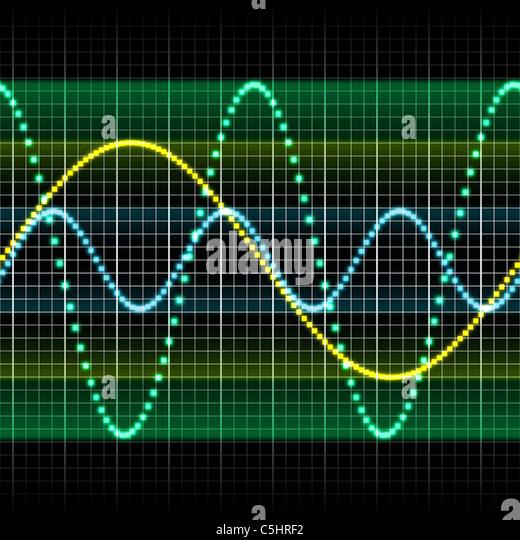 Sound wave, computer artwork - Stock-Bilder