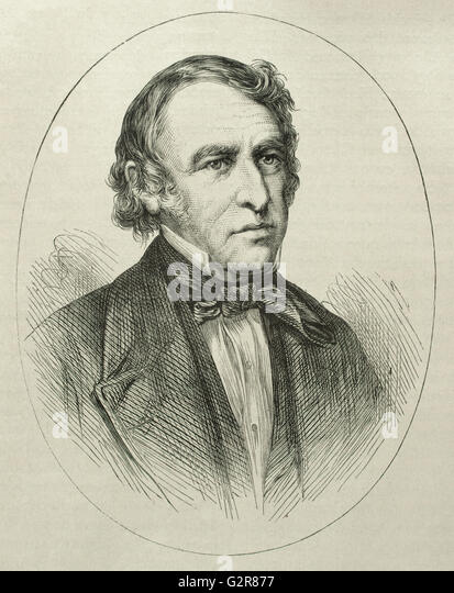 Zachary Taylor (1784-1850). American officer and politician. 12th President of the United States (1849-1850. Portrait. - Stock-Bilder