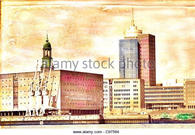 michel Hamburg 2 Sunny mood - Stock-Bilder