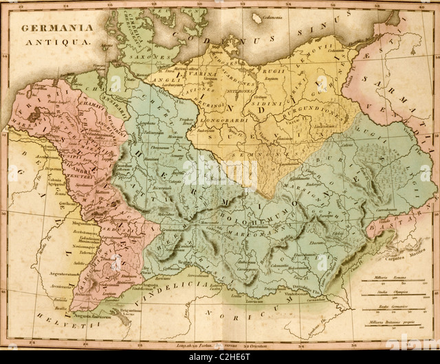 Ancient Germany - Stock Image