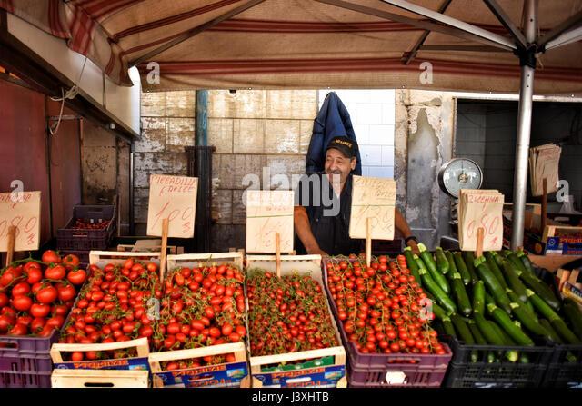 Reportage Photographs of Italian Mediterranean Food and Fish Market - Stock Image