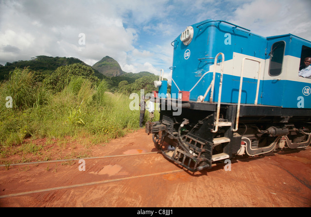 Old train in rural Mozambique - Stock Image