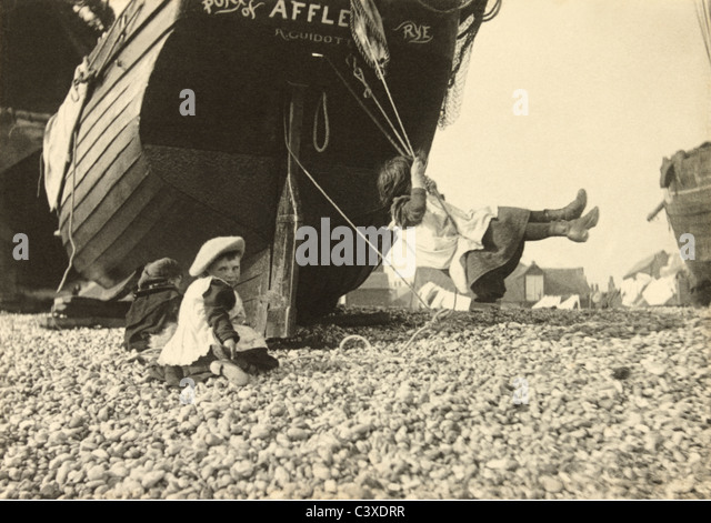The Swing, photo Paul Martin. England, c.1896 - Stock-Bilder