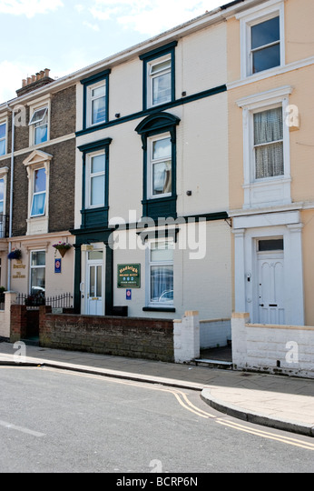 The Hadleigh Guest House in Great Yarmouth. - Stock Image