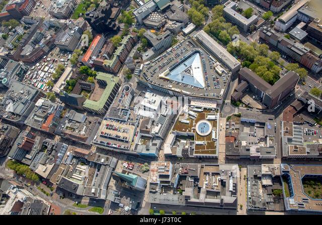 Thier-Galerie am Westenhellweg with car park, shopping center, shopping street, consumer temple, Dortmund, Ruhr - Stock Image