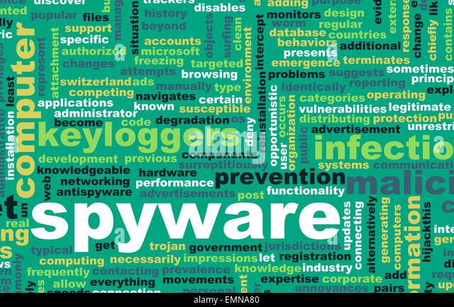 Spyware Technology as a Online Program Concept - Stock Image