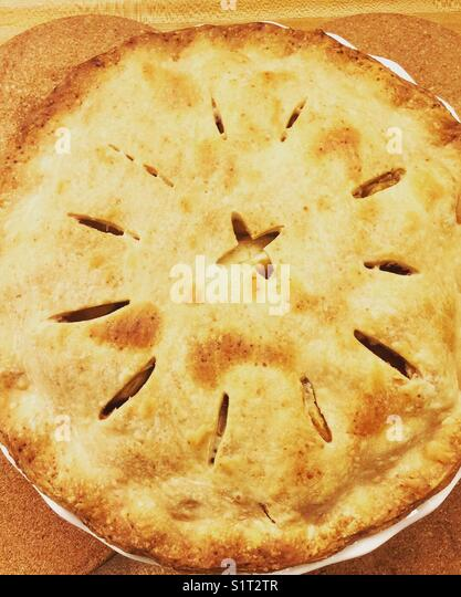 Apple pie from Northern California - Stock Image