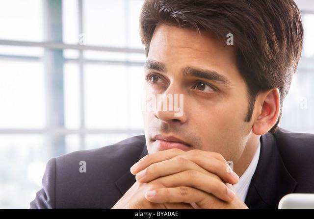 Businessman thinking - Stock Image