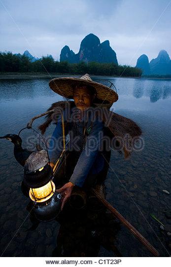 Xingping, Li River, Yangshuo, Guangxi, China - Stock Image