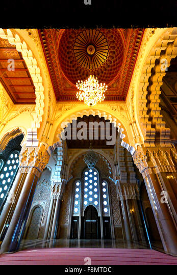 Casablanca Morocco Hassan II Mosque detail - Stock Image