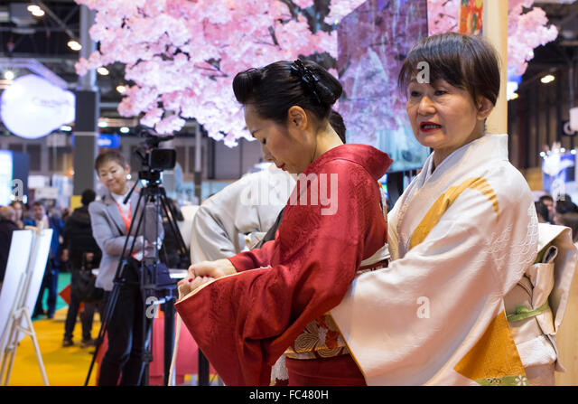 Madrid, Spain. 20th January, 2016. Fitur, International Travel and Tourism Fair, at IFEMA. Stand Japan. Credit: - Stock Image