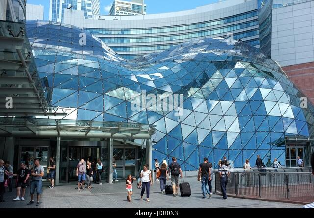 The Złote Tarasy shopping centre in Warsaw, Poland, central/eastern Europe. June 2017. - Stock Image