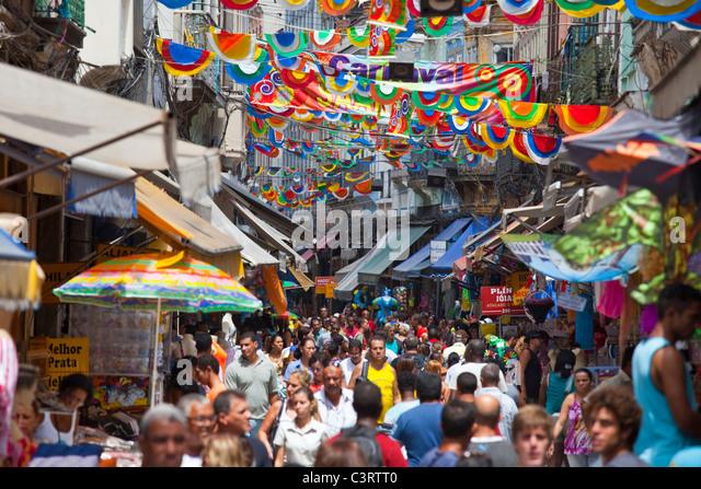 Carnaval in Saara, Rio de Janeiro, Brazil - Stock Image