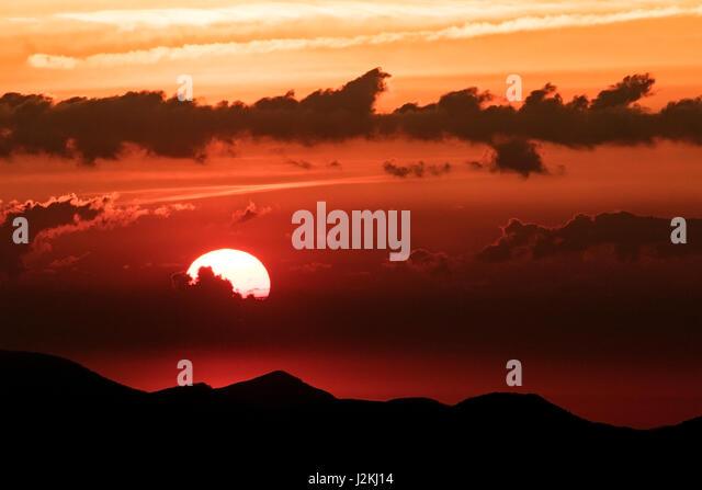 Sunrise on the Blue Ridge Parkway near Asheville, North Carolina, USA - Stock Image