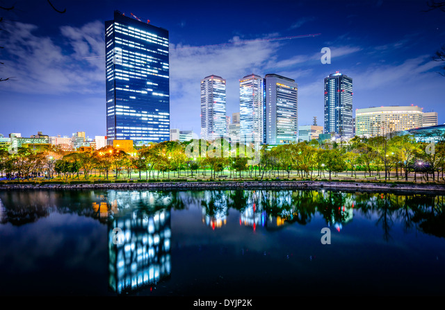 Osaka, Japan business park city skyline - Stock-Bilder