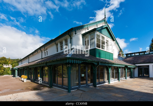 The Victorian Spa Pavillion, Strathpeffer, Ross & Cromarty, Scotland - Stock Image