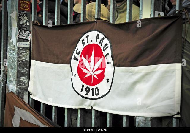 FC St. Pauli, Millerntor Stadion, Hamburg, Deutschland - Stock-Bilder