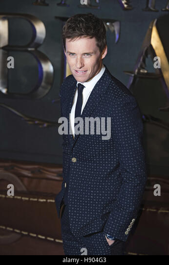 Eddie Redmayne attends the European premiere of 'Fantastic Beasts And Where To Find Them' at Odeon Leicester - Stock-Bilder