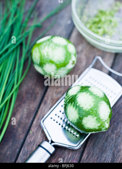 Lime, close-up, Sweden. - Stock Image