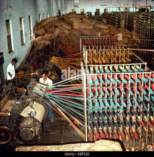 Bangladesh Jute Carpet Factory - Stock-Bilder