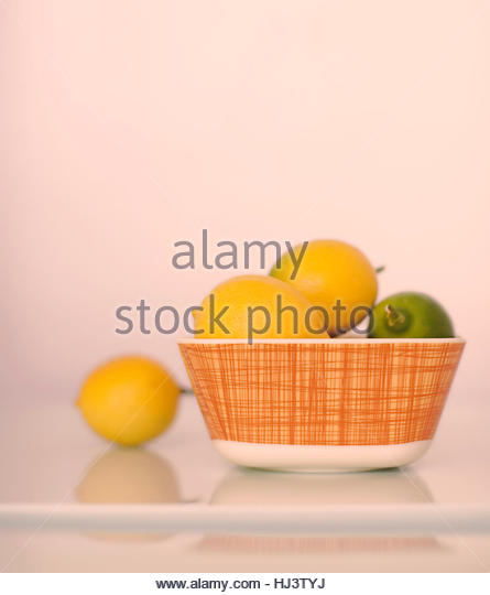 Citrus in a Bowl - Stock Image