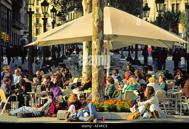 Spain Barcelona Cafe Zurich - Stock Image