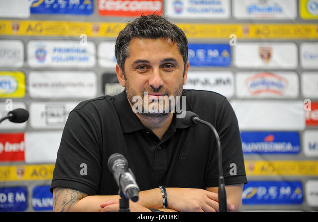 Claudiu Niculescu, the head coach of FC Voluntari - Liga 1 (Romanian Football League One) game between FC Voluntari - Stock Image