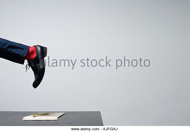 A persons foot - Stock Image