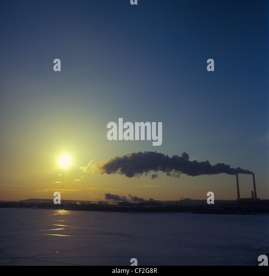 Winter landscape. - Stock Image