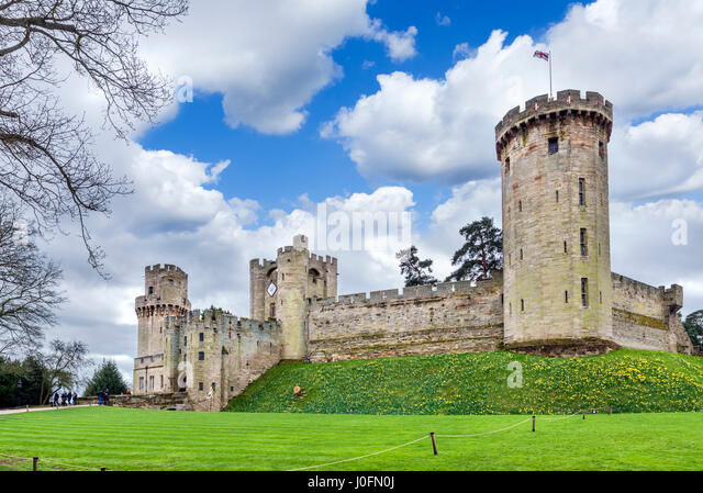 Warwick Castle, Warwickshire, England, UK - Stock Image