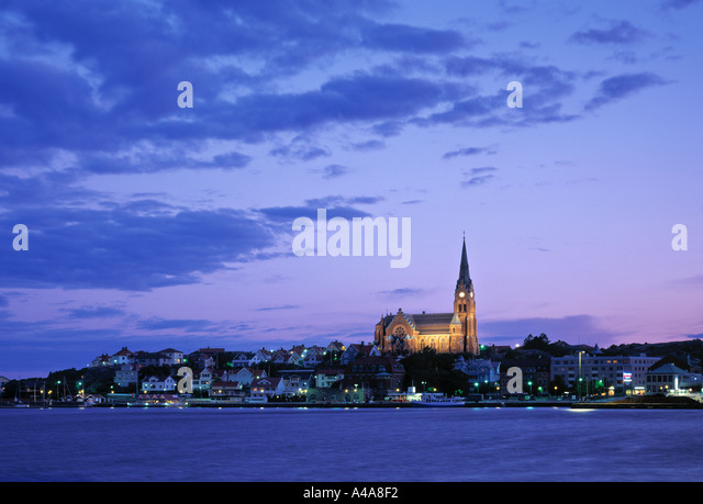 Church in Lysekil, Vastra Gotaland, Sweden - Stock Image