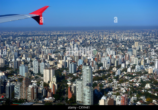 Aerial view, Buenos Aires, Argentina, South America - Stock Image