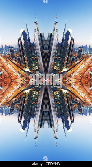 Downtown Dubai abstract - Stock Image