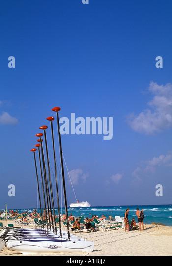 Mexico playa del carmen beach - Stock Image