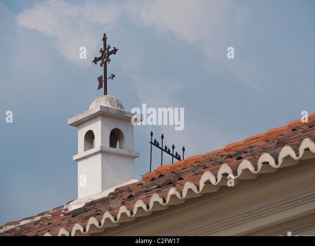 Detail of religious building in the Spanish colonial city of Antigua, Guatemala. - Stock Image