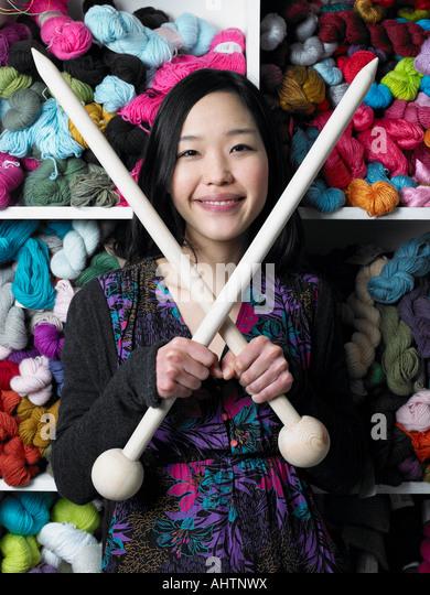 Giant Knitting Needles For Sale Uk : Craft shop interior stock photos