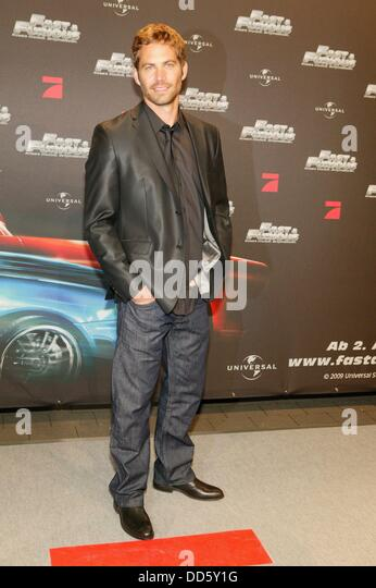 Paul Walker at the premiere of 'Fast & Furious' in Bochum on the 17th of March in 2009. - Stock Image