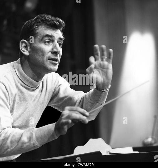 Leonard Bernstein, 1960. Courtesy: CSU Archives/Everett Collection - Stock Image