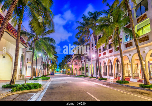 Palm Beach, Florida, USA at Worth Ave. - Stock Image
