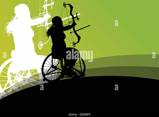 Active Young Women Volleyball Player Sport Stock Vector: Disabled Athlete Stock Vector Images