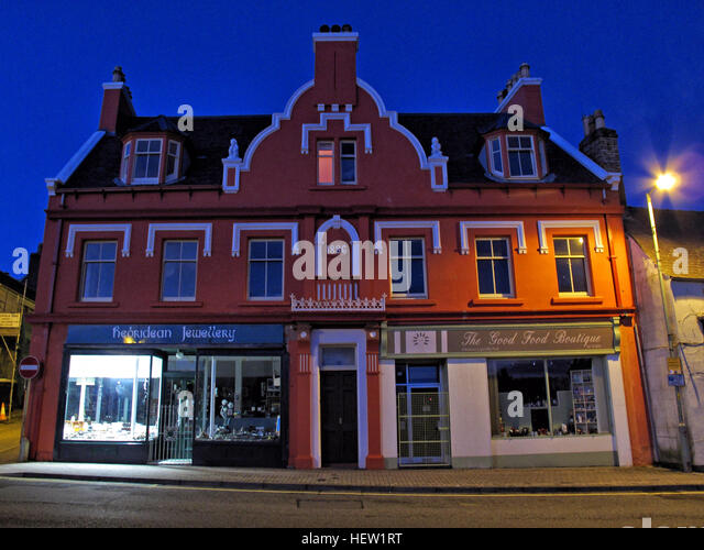 Stornoway Isle Of Lewis,1886 building,Scotland, UK at dusk - Stock Image