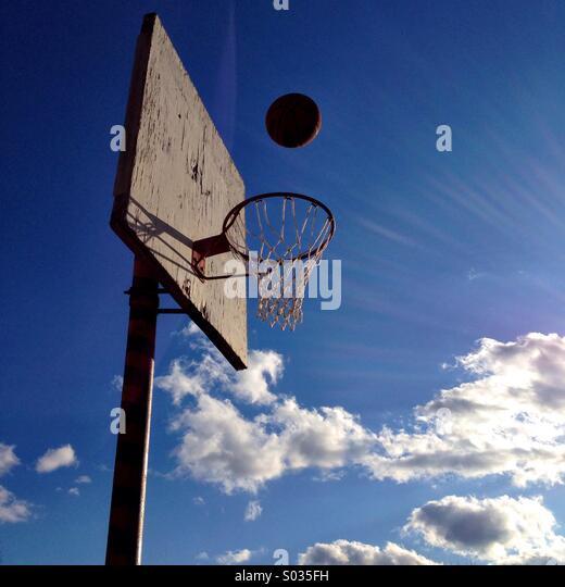 Basketball hoop. - Stock Image