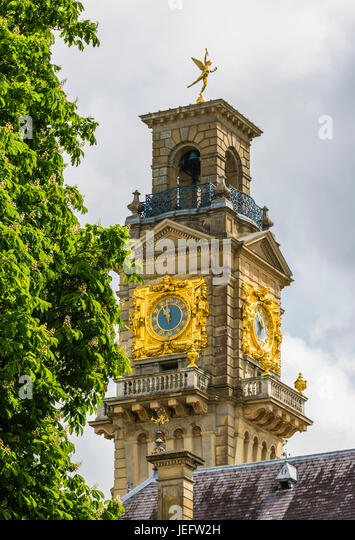 Clock tower at Cliveden, Buckinghamshire, UK - Stock Image