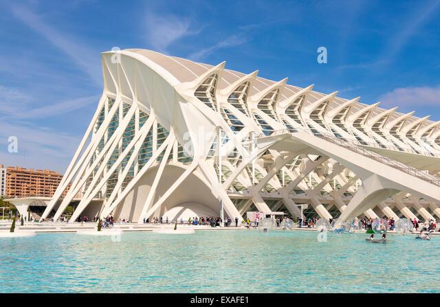 La Ciudad de las Artes y las Ciencias (City of Arts and Sciences), Valencia, Spain, Europe - Stock Image