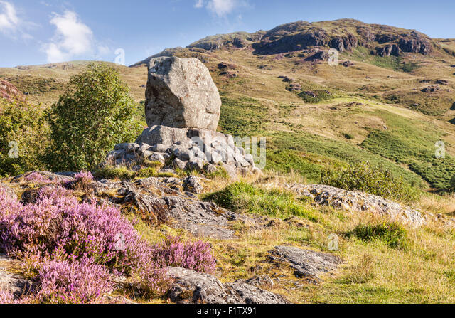 The Bruce Memorial in the Galloway Hills at Glentrool, Dumfries and Galloway, Scotland. - Stock-Bilder