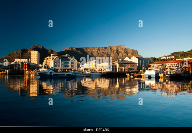 Waterfront, Table Mountain, Cape Town, Western Cape, South Africa, Africa - Stock Image