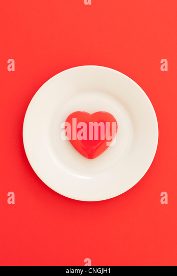 Heart healthy diet  conceptual image - Stock Image