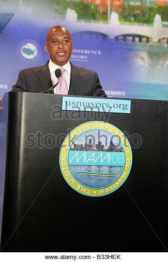Miami Florida InterContinental Hotel United States Conference of Mayors Plenary Session Trenton New Jersey Mayor - Stock Image
