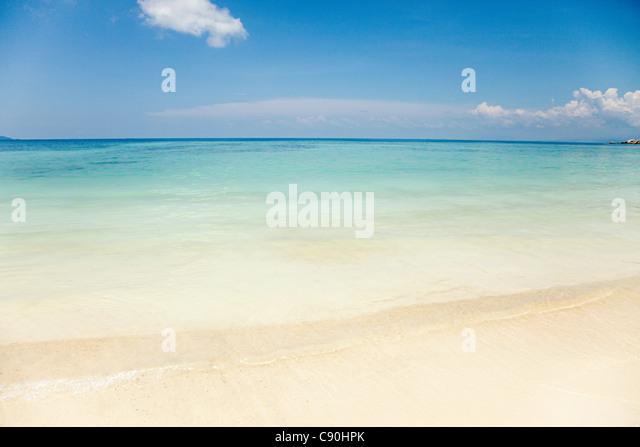 Peaceful scene at Mira Beach, Perhentian Kecil, Malaysia - Stock Image
