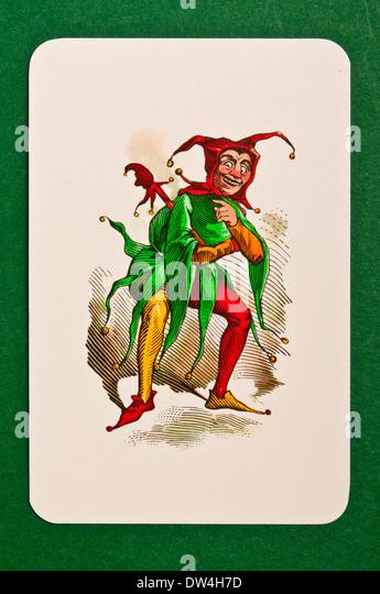 Jolly joker card - Stock Image